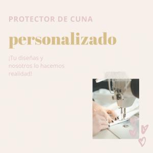 portada protector de cuna personalizado