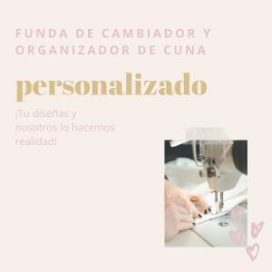 portada de funda de cambiador y organizador de cuna personalizado