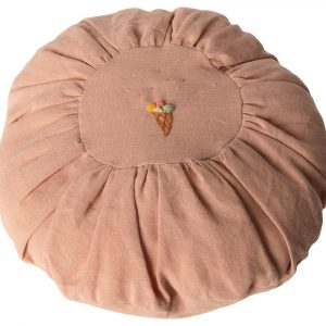 Cojin con forma redonda rosa