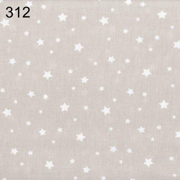 tela gris empolvado con estrellas blancas