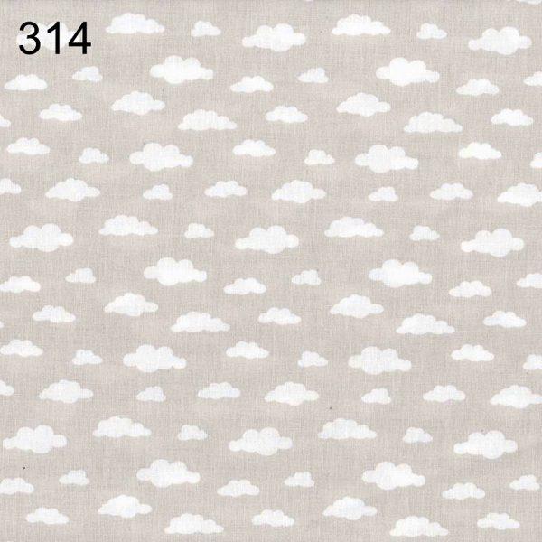 tela gris empolvado con nubes blancas