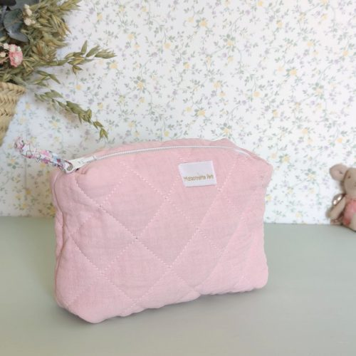 Neceser guateado rosa mini