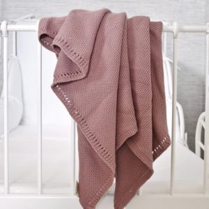 Mantita rosa vintage