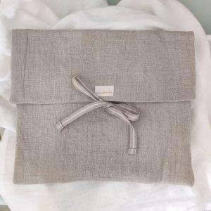 Bolsa de muda lino lavado natural grande