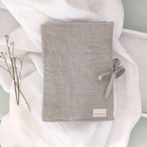 Portadocumentos lino lavado natural
