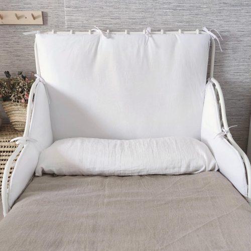 Protector de cama MINNEN blanco