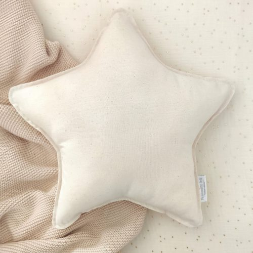 Cojín estrella crema