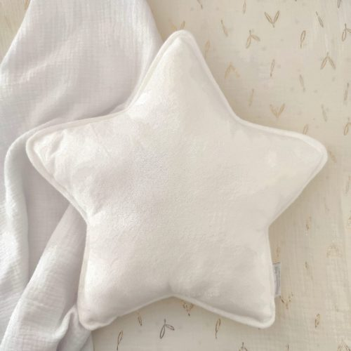 Cojín estrella coralina blanca