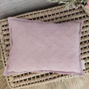 Cuadrante flor bordada lavanda