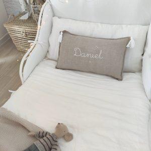 Funda nórdica lino lavado blanco